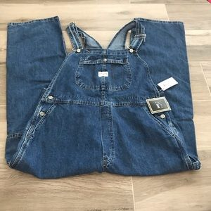 NWT Lee Jeans 1X bib carpenter overalls